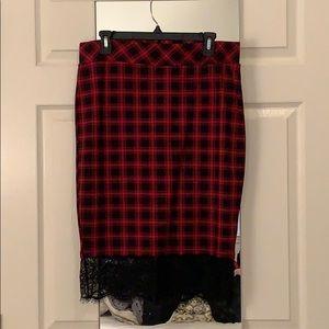 NWT Torrid Plaid Stretchy Pencil Skirt